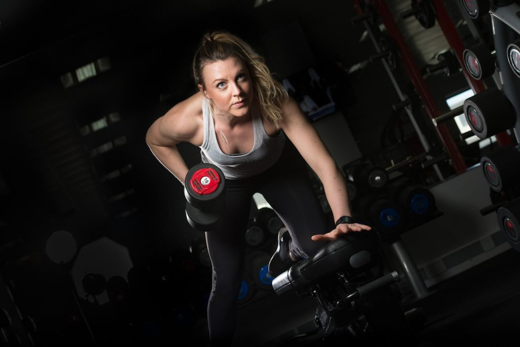 Holly Lynch training at Fitness Evolution