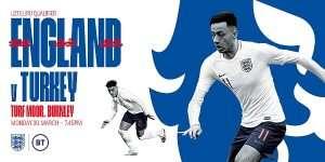 England vs turkey baner