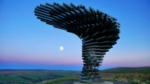 The Singing Ringing Tree: an award– winning panopticon art piece which looks over Burnley