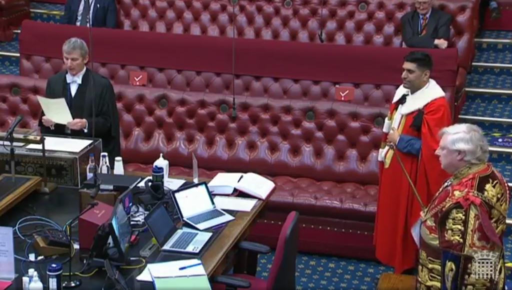 Wajid Khan getting sworn into the House of Lords