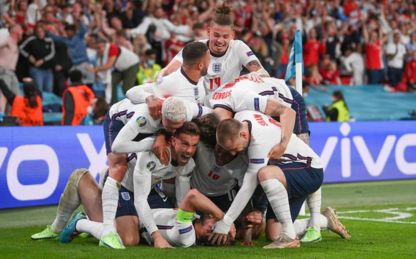 England Squad celebrating