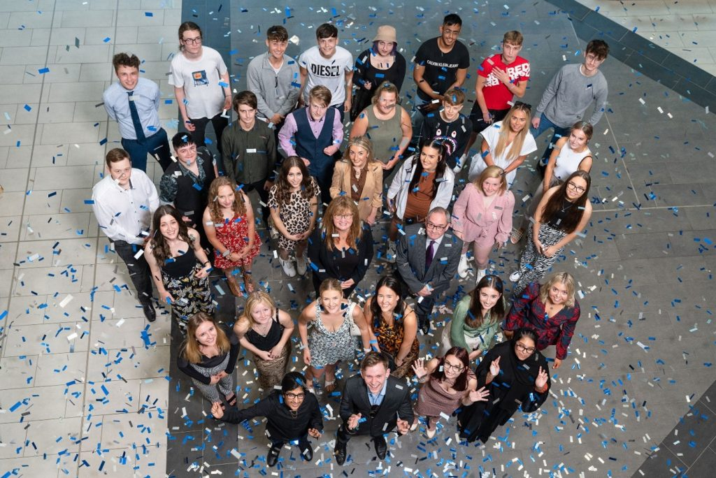 burnley College students at the award for excellence